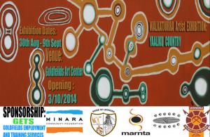 The Walkatjurra Artist Exhibition Oct 2014